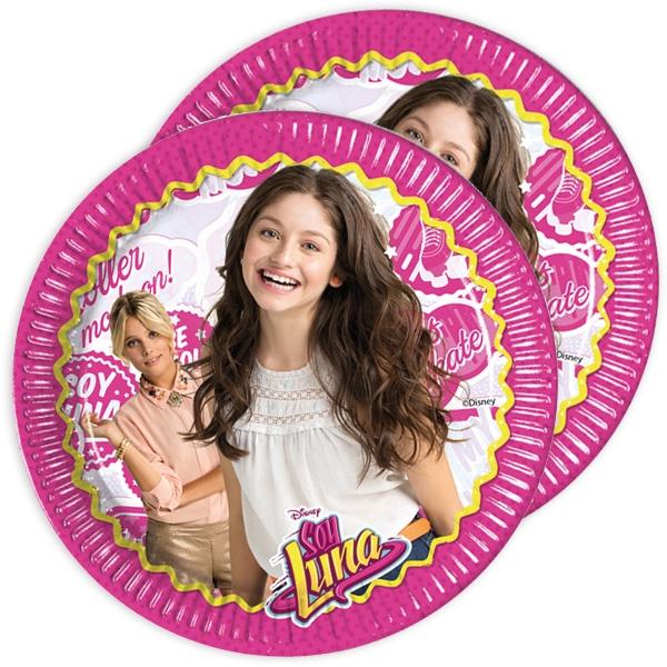 """""""Soy Luna"""" Partyteller, 8er Pack, 23 cm"""