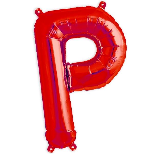 Folienballon Buchstabe P für Sprüche und Namen in Ihrer Partydeko, 41cm