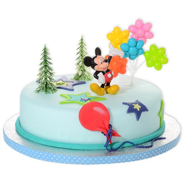 Tortendeko-Set für Mickey Maus Kindergeburtstag, 4-teilig