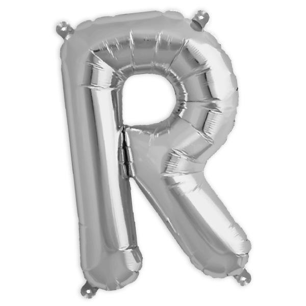 Folienballon Buchstabe R, 41 cm, für personalisierte Deko mit Namen etc.