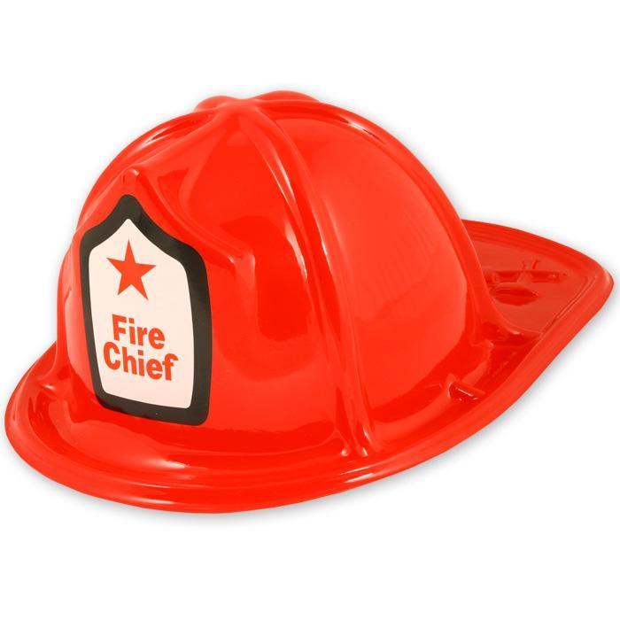 Fire Chief Feuerwehrhelm für Kids, 29 x 11 cm, Umfang Kopfpassung ca. 58cm