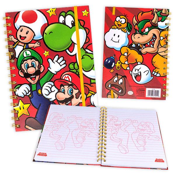Spiral-Notizbuch, Super Mario, 80 Blatt liniert