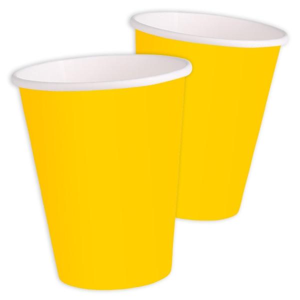 Becher gelb einfarbig 8 Stk., 270 ml
