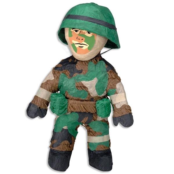 Pinata Soldat aus Pappe/Papier 55cm