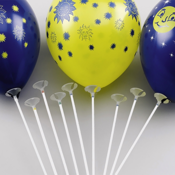 1 Ballonstab inkl. Halterung, aus Plastik, Länge 38cm