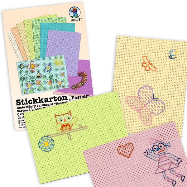 10 Blatt bunter Stickkarton