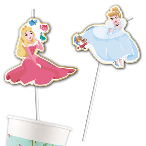 """Disney Prinzessinnen"" Trinkhalme, 6er Pack, ca. 24cm"