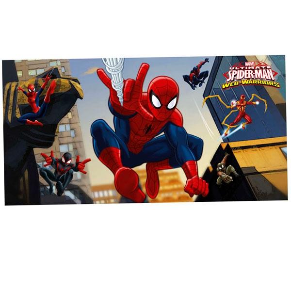 Spiderman Web-Warriors Wanddeko Poster, Folie, 150 × 77 cm