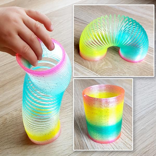 Glitzer Spirale Regenbogenfarben, 1 Stk, 6,5cm Ø 5,3cm