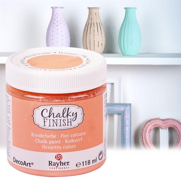 Chalky Finish Kreidefarbe Aprikot, samtartige Optik, 118ml, vielseitig einsetzbar