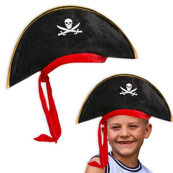 Piratenhut für Kinder-Piratenkostüm für Fasching oder Mottoparty, 1 Stück