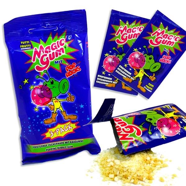 Tutti Frutti 3er Pck, Knister-Kaugummi, Süßigkeit für Kids