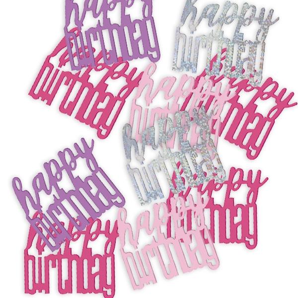 Birthday Konfetti pink/silbern 14 g
