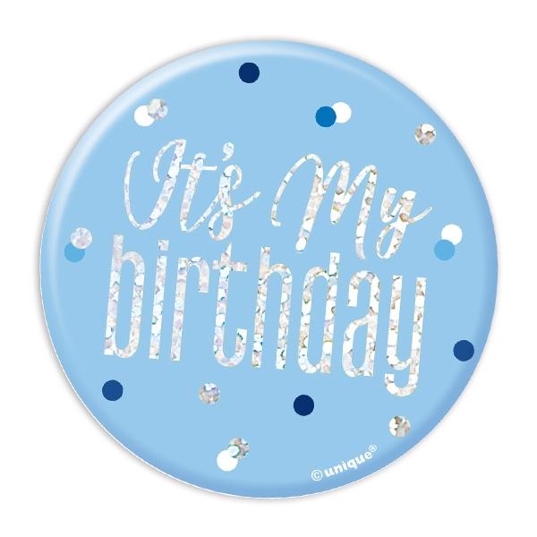 Its my birthday! Glitzer-Button, 7,5cm, zum Anstecken