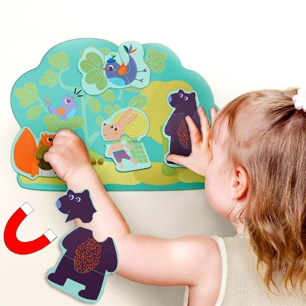 Hoppy Bunny & Friends Magnet-Spiel für die Wand, 11 tlg.