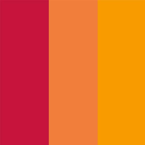 Acryl-Stifte, 3 Stück, gelb, orange und rot
