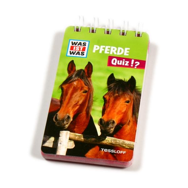 WAS IST WAS Quizblock-Pferde, 100 Quizfragen, Rätsel und Antworten