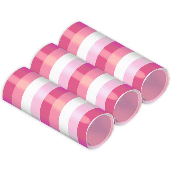 Luftschlangen in Pinktönen