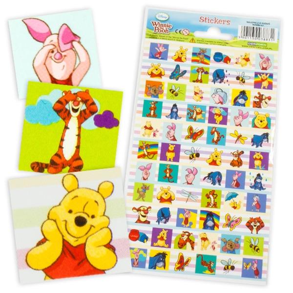 WINNIE POOH-Sticker-Bogen, 66 Aufkleber von Winnie Puuh und seinen Freunden