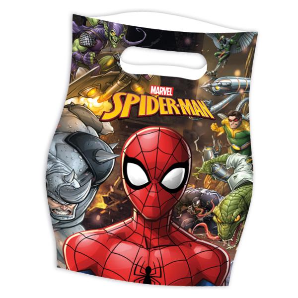 Spiderman Mitgebseltüten, 6 Stk., 16cm x 23cm