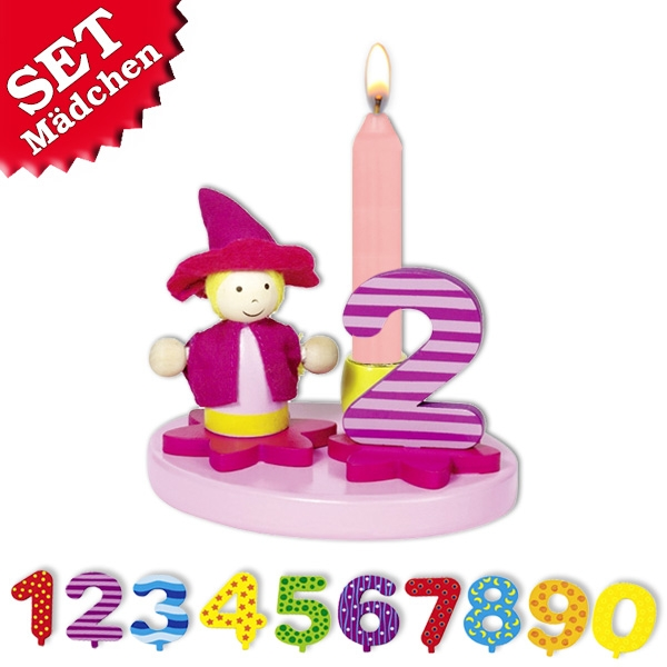 Geburtstagskind Mädchen, Tischdeko + Kerzen, von Goki