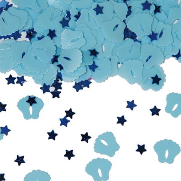 Konfetti als Babyfüße, 14 g, blau, Motivkonfetti zur Jungen-Geburt