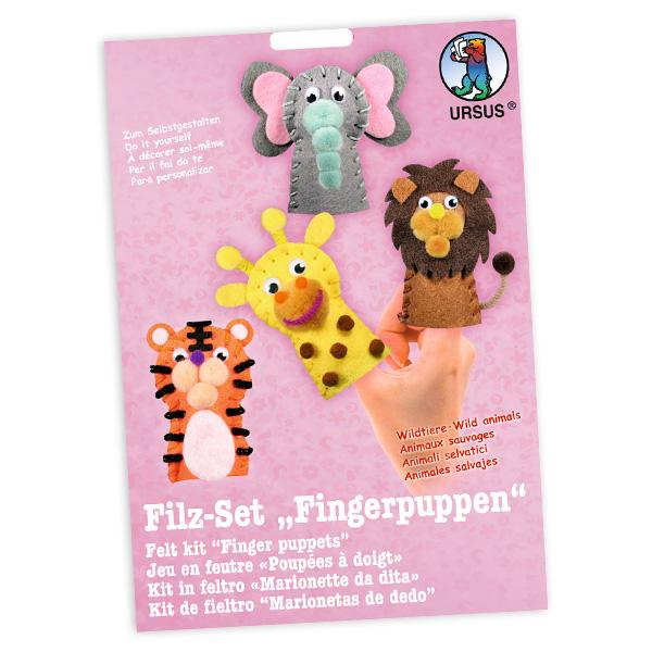 "Fingerpuppen Bastelset ""Wildtiere"""