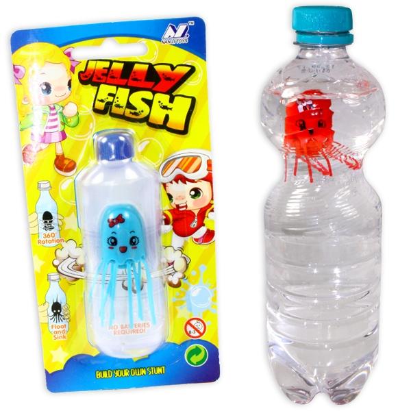 Magische Flaschenqualle als Partygag, Kunststoff, 4,5cm, 1 Stück