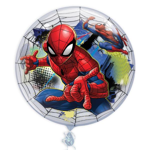 "Bubble Ballon ""Spiderman"", 56cm, heliumgeeignet"