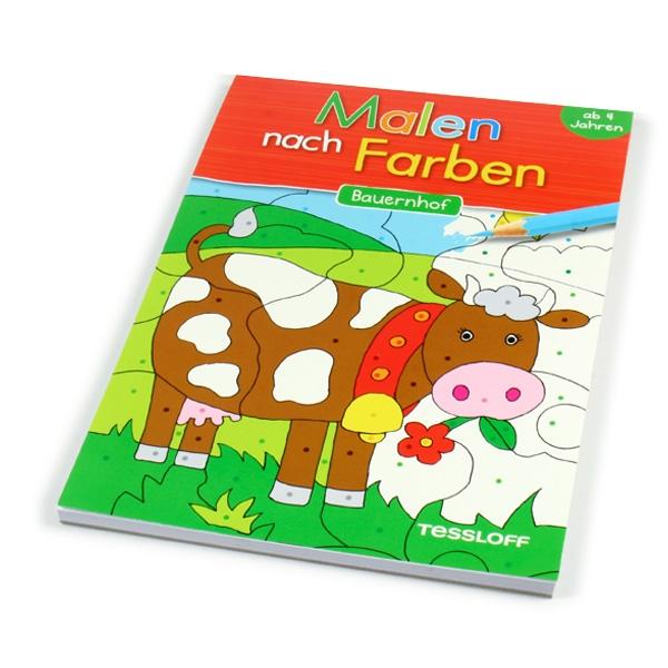 """Malen nach Symbolen, """"Bauernhof"""", Ausmalblock"""
