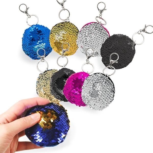Pailletten-Schlüsselanhänger, wechselt die Farbe