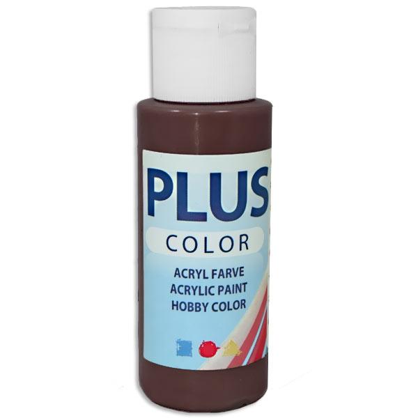 Bastelfarbe Plus Color, Farbe Schokoladenbraun, 60ml, hohe Deckkraft u. Intensität