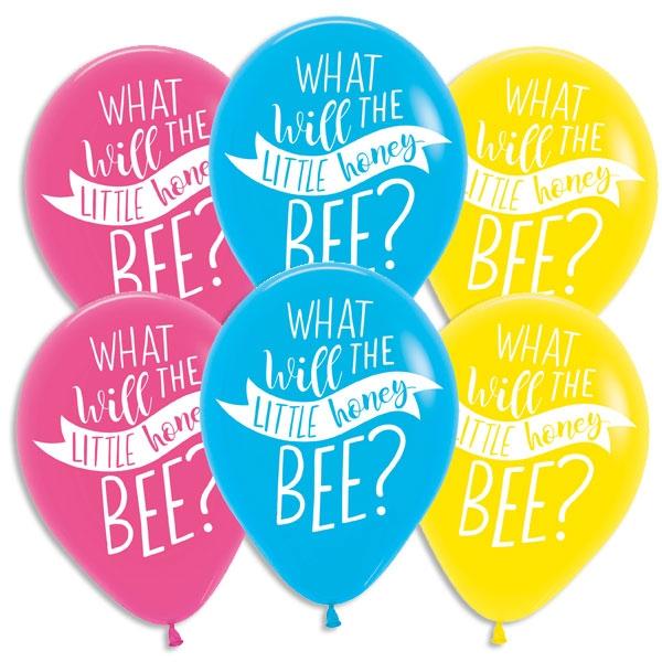 Baby Shower Bienchen Luftballons, 6er Pck, 27,5cm