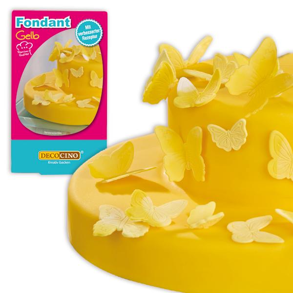 Rollfondant gelb, 250g Zuckermasse zum Ausrollen und Ausstechen