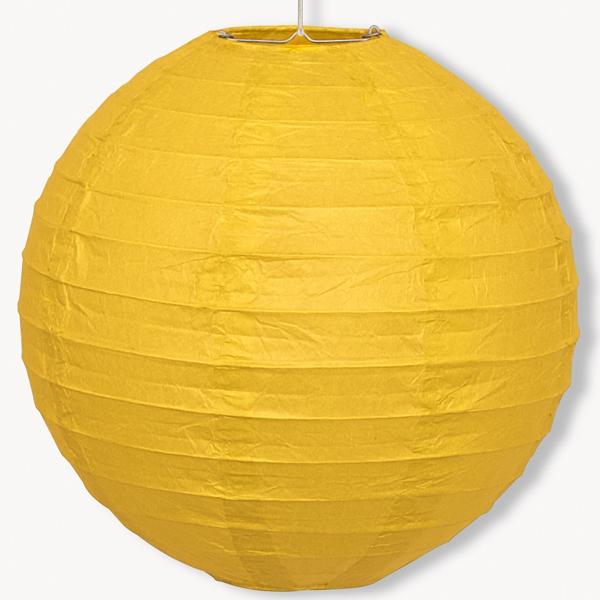 Papier-Lampion gelb, 1Stk., vielseitig einsetzbares Dekoaccessoire 25,4 cm