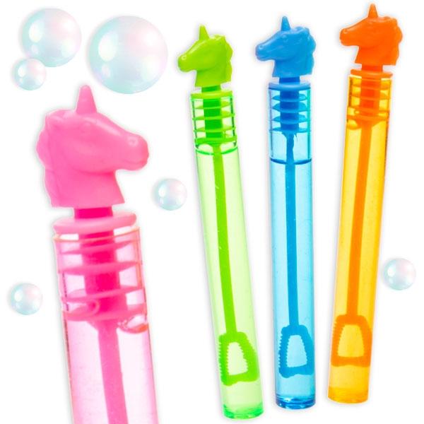 Seifenblasen Einhorn, 1 Stk, Blasen zum Anfassen, neon