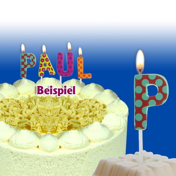 Mini Kerze Buchstabe P, 2,5 cm, für personalisierte Geburtstagstorte