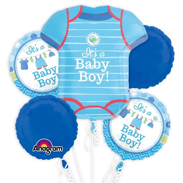 """""""It's a Baby Boy"""" Ballon-Set, 5-teilig"""
