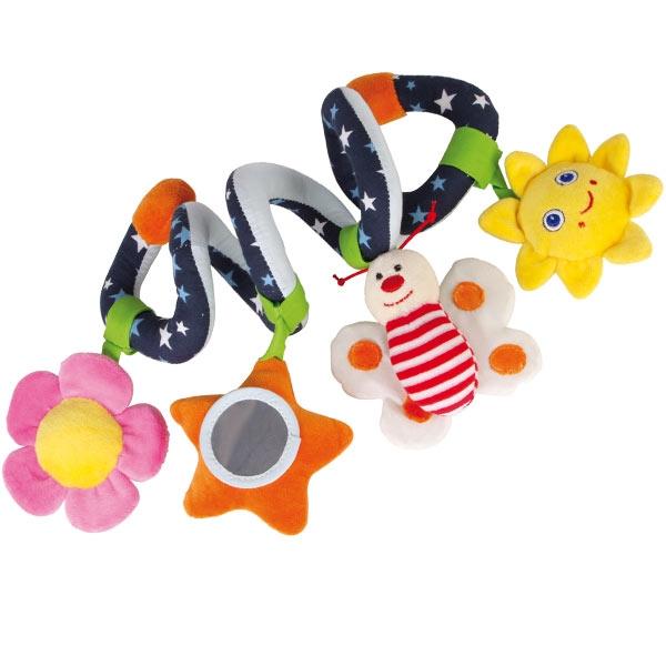 Babyspielzeug Greifspirale, 1 Stk, für das Kinderbettchen