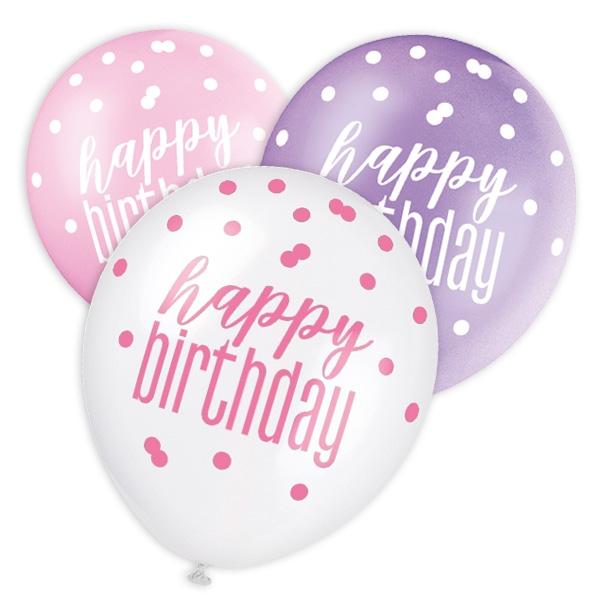 Happy Birthday-Ballons 6er Pack