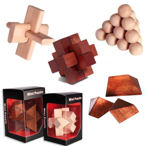 Holz Geduldsspiel ca. 8cm x 5cm, versch. Varianten erhältlich