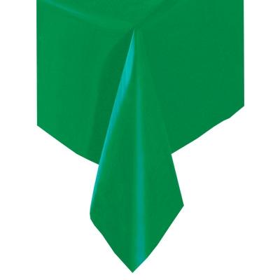 Grüne Tischdecke einfarbig, 137x274cm, abwischbar, Folie