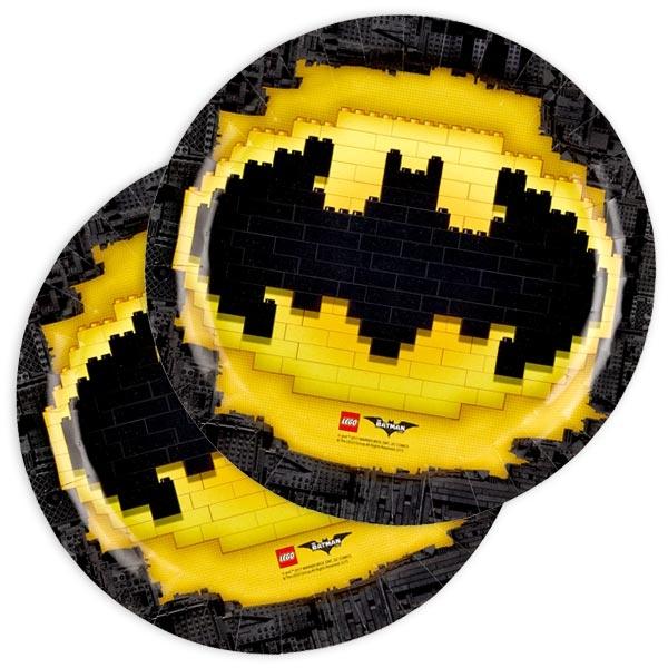 Lego Batman Partyteller, coole Einwegteller im 8er Pack, 23cm