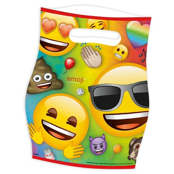 Emoji Rainbow Fun Tüten, 8er Pck, Folie, 18,7cm x 23,3cm