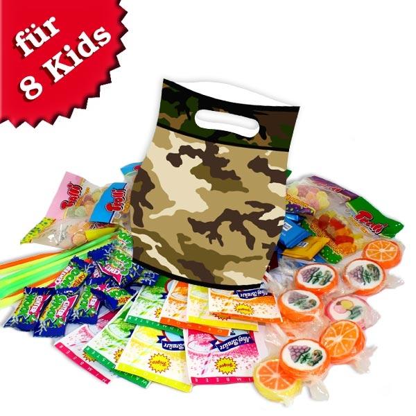 Camouflage Tütchenset mit Süßem, 8er