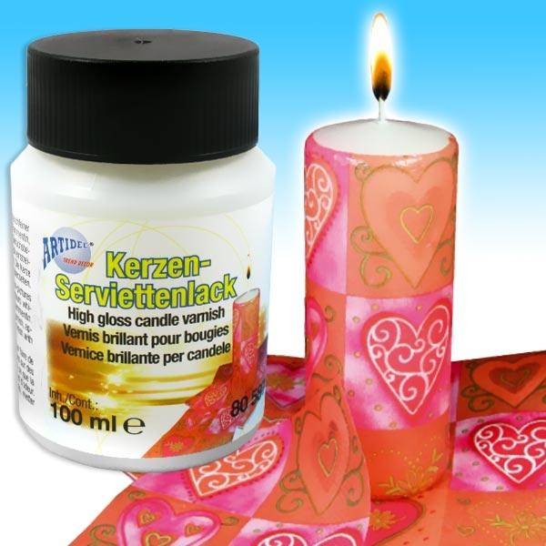 Kerzen-Servietten-Lack zum einfachen Designen eigener Kerzen, 100ml