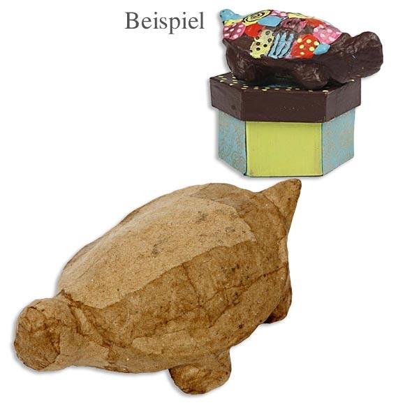 1 Süße Schildkröte, 12cm x 4,5cm, zum Bemalen und Gestalten