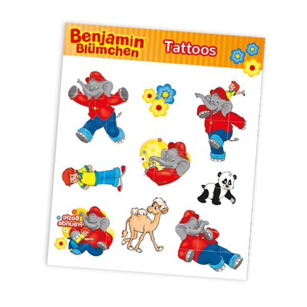 """Tattoobogen """"Benjamin Blümchen"""" mit 9 Tattoos"""