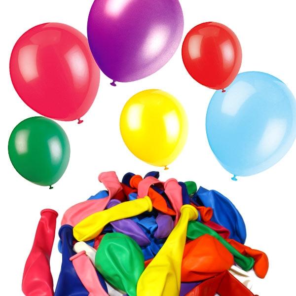 Bunte Luftballons in versch. Größen und Farben, 50er Pack