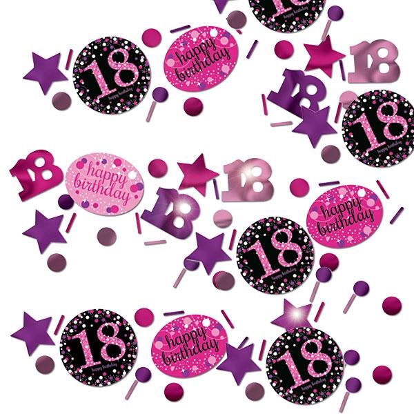 Sparkling Celebration Konfetti 18.Birthday, pink-schwarz, 34g